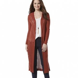 Metaphor Pointelle Duster Cardigan Sweater